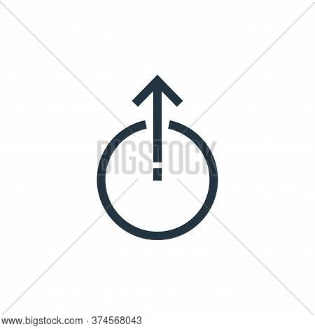 uploading icon isolated on white background from arrows collection. uploading icon trendy and modern