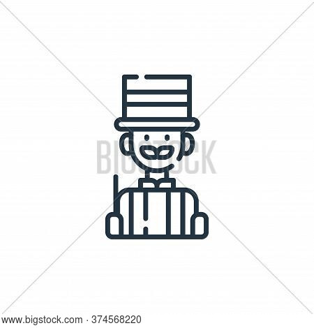 magician icon isolated on white background from circus collection. magician icon trendy and modern m