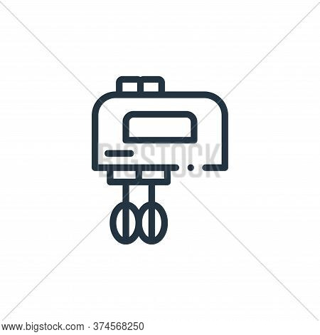 mixer icon isolated on white background from electronic devices collection. mixer icon trendy and mo