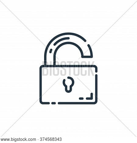 Unlocked Vector Icon From User Interface Collection Isolated On White Background