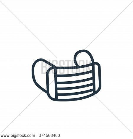 mask icon isolated on white background from health and protection collection. mask icon trendy and m