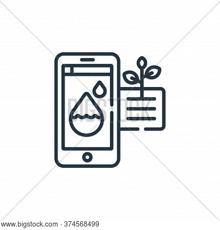water icon isolated on white background from smart farm collection. water icon trendy and modern wat
