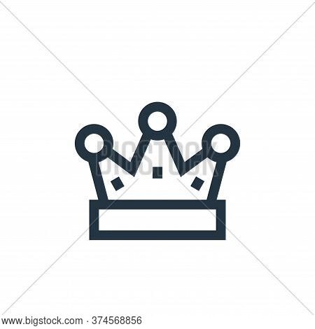 crown icon isolated on white background from video game elements collection. crown icon trendy and m