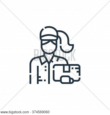 delivery woman icon isolated on white background from delivery collection. delivery woman icon trend