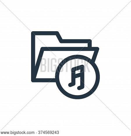 music folder icon isolated on white background from music collection. music folder icon trendy and m