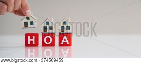 Hoa Homeowner Association. Home Owner Community Concept