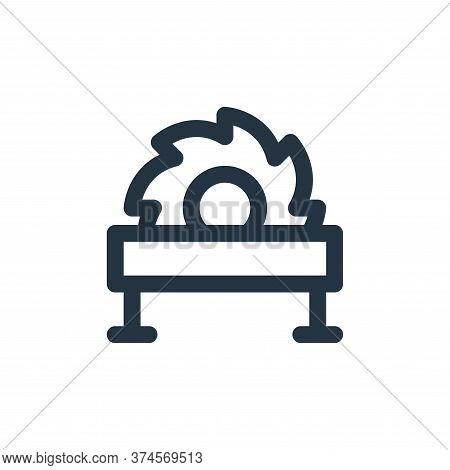 saw machine icon isolated on white background from labour day collection. saw machine icon trendy an