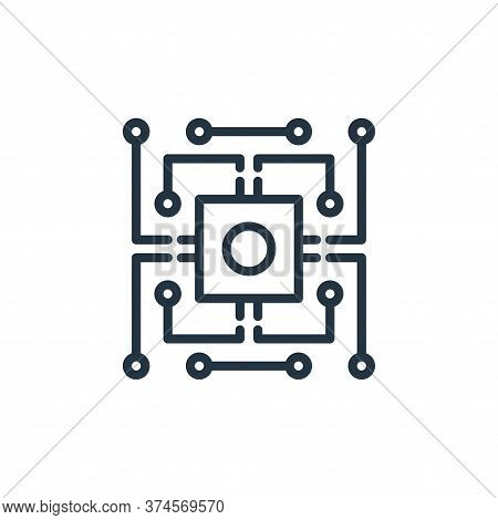 chip icon isolated on white background from engineering collection. chip icon trendy and modern chip