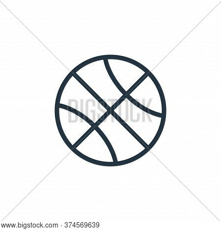 basketball icon isolated on white background from school collection. basketball icon trendy and mode