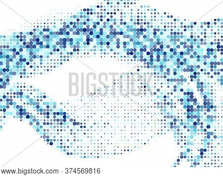 Polka Dot Halftone Perforated Vector Background Design. Circle Elements Grid. Surface Points, Polka
