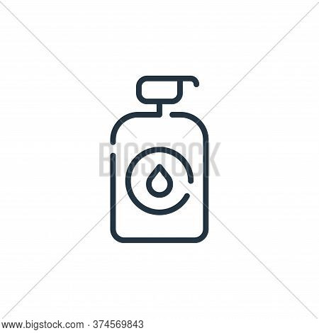 liquid soap icon isolated on white background from virus transmission collection. liquid soap icon t
