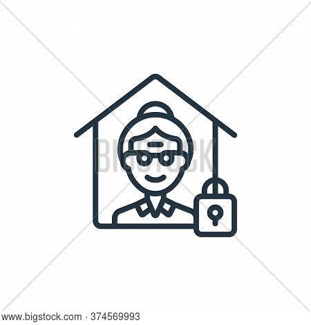 quarantine icon isolated on white background from self isolation collection. quarantine icon trendy