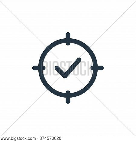 tick mark icon isolated on white background from web apps seo collection. tick mark icon trendy and