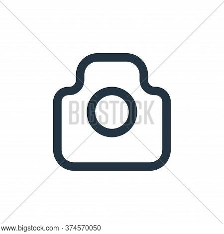 camera icon isolated on white background from user interface collection. camera icon trendy and mode