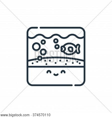 aquarium icon isolated on white background from pets collection. aquarium icon trendy and modern aqu
