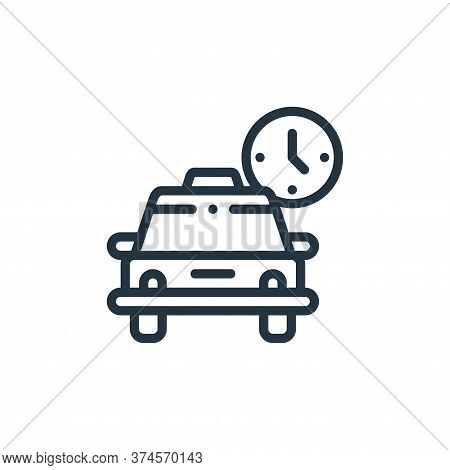 schedule icon isolated on white background from taxi service collection. schedule icon trendy and mo