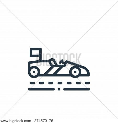 race icon isolated on white background from autoracing collection. race icon trendy and modern race