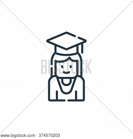 student icon isolated on white background from academy collection. student icon trendy and modern st