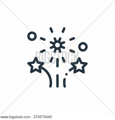 fireworks icon isolated on white background from mexico collection. fireworks icon trendy and modern