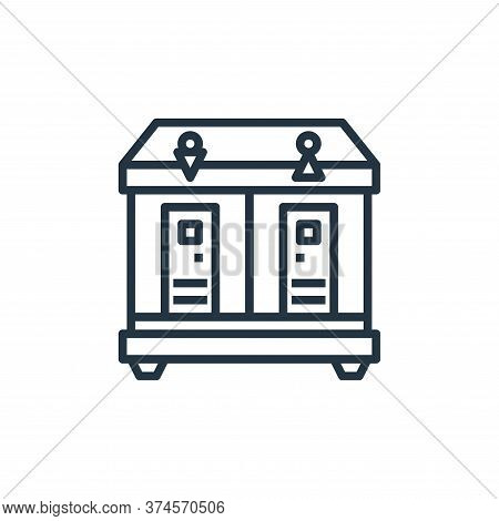 toilet icon isolated on white background from motorway collection. toilet icon trendy and modern toi
