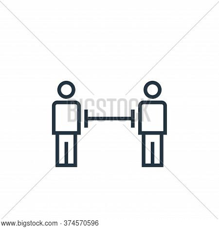distance icon isolated on white background from pandemic novel virus collection. distance icon trend