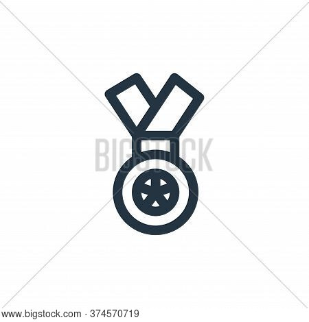 medal icon isolated on white background from auto racing collection. medal icon trendy and modern me