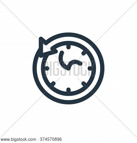 time travelling icon isolated on white background from technology of the future collection. time tra