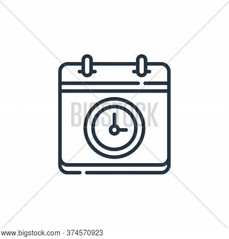time icon isolated on white background from calendar and date collection. time icon trendy and moder