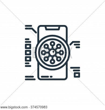 smartphone icon isolated on white background from virus collection. smartphone icon trendy and moder