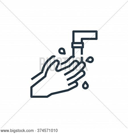 hand wash icon isolated on white background from coronavirus collection. hand wash icon trendy and m