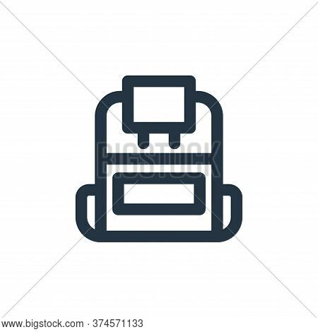 backpack icon isolated on white background from holiday collection. backpack icon trendy and modern