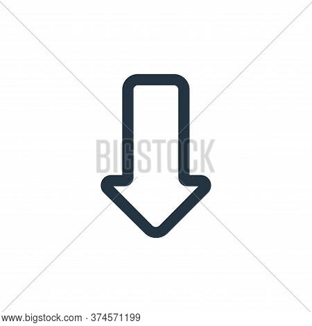 download icon isolated on white background from interface collection. download icon trendy and moder