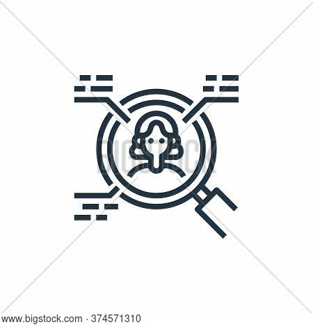 research icon isolated on white background from user experience collection. research icon trendy and