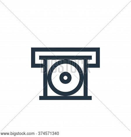cd player icon isolated on white background from electronics collection. cd player icon trendy and m