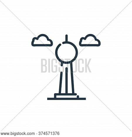 fernsehturm berlin icon isolated on white background from world monument collection. fernsehturm ber