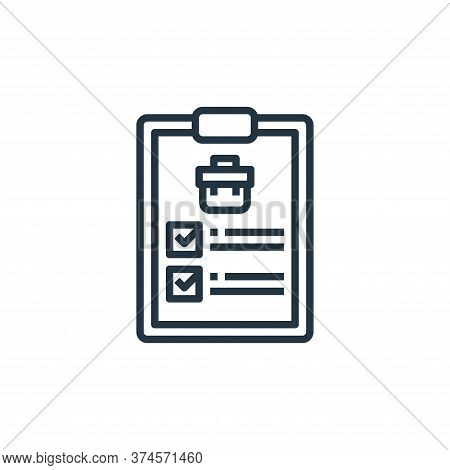 checklist icon isolated on white background from human resources collection. checklist icon trendy a