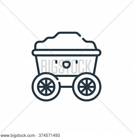 cart icon isolated on white background from desert collection. cart icon trendy and modern cart symb