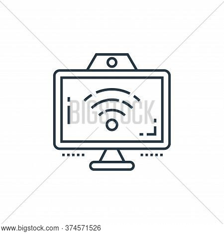 wifi signal icon isolated on white background from technology devices collection. wifi signal icon t