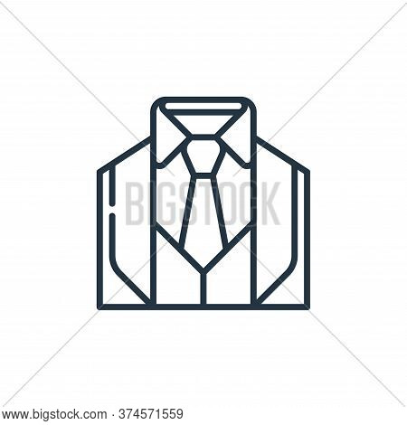 suit icon isolated on white background from management collection. suit icon trendy and modern suit