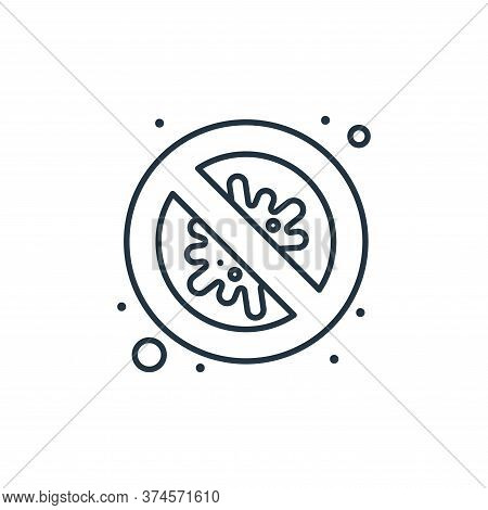 no virus icon isolated on white background from coronavirus collection. no virus icon trendy and mod