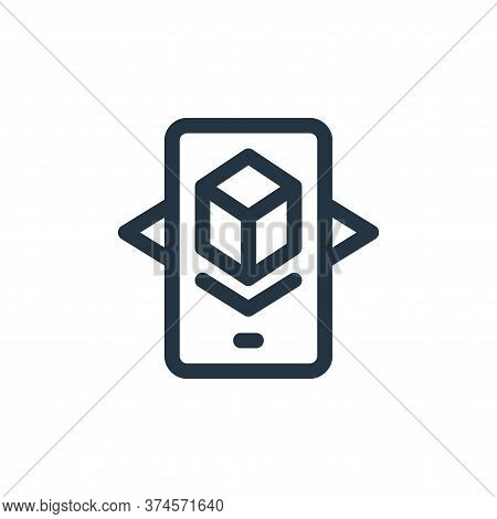 augmented reality icon isolated on white background from virtual reality collection. augmented reali