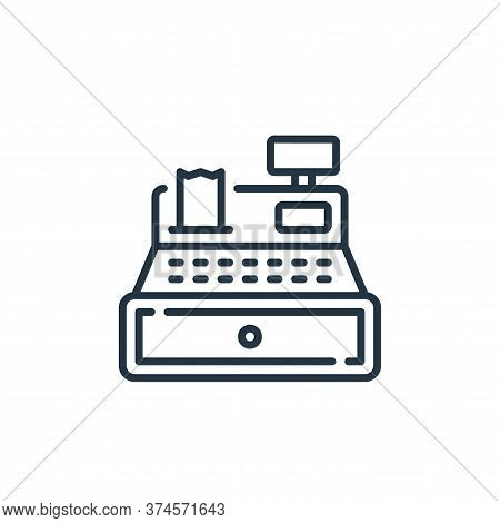 cashier icon isolated on white background from mall collection. cashier icon trendy and modern cashi