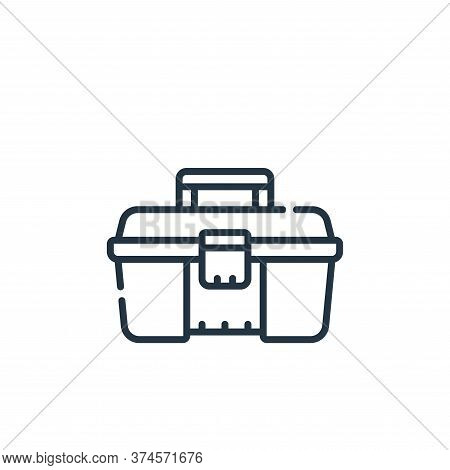 toolbox icon isolated on white background from plastic products collection. toolbox icon trendy and