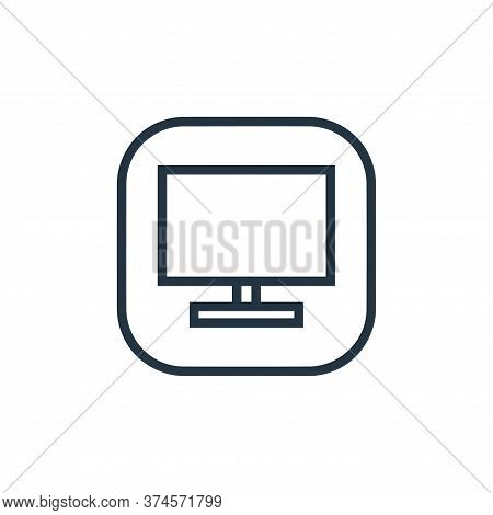 tv monitor icon isolated on white background from hardware and gadgets collection. tv monitor icon t
