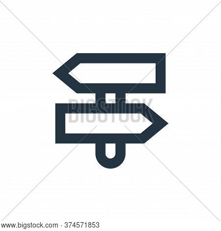 direction icon isolated on white background from user interface collection. direction icon trendy an