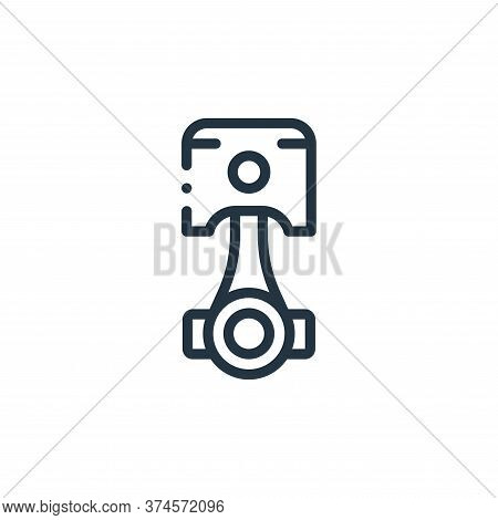 piston icon isolated on white background from autoracing collection. piston icon trendy and modern p