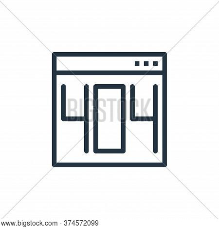 error icon isolated on white background from user interface collection. error icon trendy and modern
