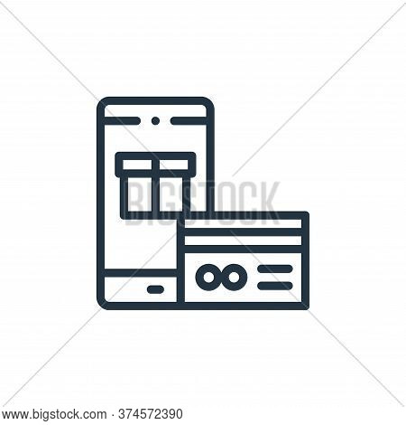 credit card icon isolated on white background from online shopping collection. credit card icon tren