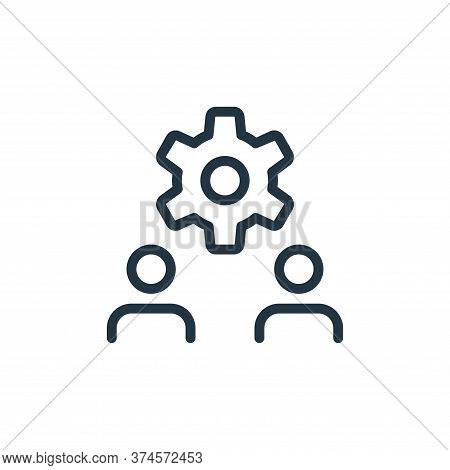 setting icon isolated on white background from work office and meeting collection. setting icon tren