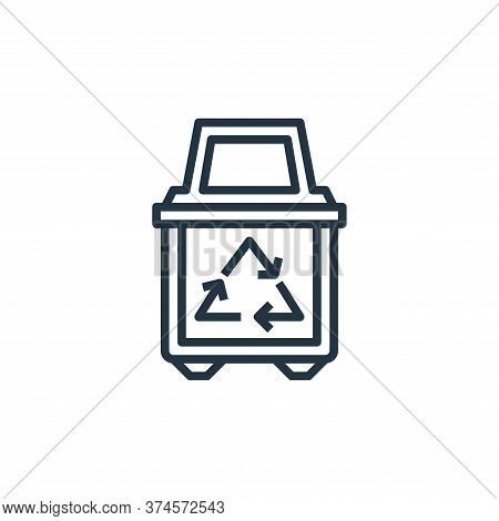 recycle bin icon isolated on white background from stationery collection. recycle bin icon trendy an